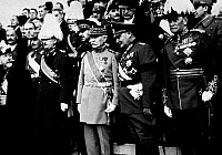 0105672 © Granger - Historical Picture ArchiveGÖRING AND PETAIN, 1934.   Hermann Göring representing the Nazi Germany at the funeral of Alexander I, king of Yugoslavia, at Marseilles, France. To his left is French general Henri Pétain, 18 October 1934.