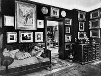 0114158 © Granger - Historical Picture ArchiveEDUARD FUCHS (1870-1940).   German historian, writer and art collector. Interior of Fuchs' home in Berlin. Photograph by Emil Leitner, 1928. Full credit: Emil Leitner - ullstein bild / Granger, NYC -- All rights reserved.