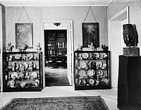 0114161 © Granger - Historical Picture ArchiveEDUARD FUCHS (1870-1940).   German cultural historian, writer and art collector. Interior of Fuchs' home in Berlin. Photograph by Emil Leitner, 1928. Full credit: Emil Leitner - ullstein bild / Granger, NYC -- All rights reserved.