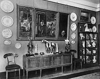 0114163 © Granger - Historical Picture ArchiveEDUARD FUCHS (1870-1940).   German cultural historian, writer and art collector. Interior of Fuchs' home in Berlin. Photograph by Emil Leitner, 1928. Full credit: Emil Leitner - ullstein bild / Granger, NYC -- All rights reserved.
