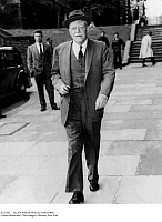 0123795 © Granger - Historical Picture ArchiveALLEN WELSH DULLES   (1893-1969). American lawyer and intelligence official. Photographed on his way to the British Foreign Ministry in London, England, while serving as head of the Central Intelligence Agency, June 1960.
