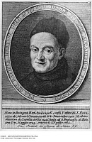 0124828 © Granger - Historical Picture ArchiveGIOVANNI BATTISTA MARTINI (1706-1784).   Also known as Padre Martini. Italian composer and music theorist, teacher of Wolfgang Amadeus Mozart. Engraving by C. Faucci, 1776. Full credit: Imagno - ullstein bild / Granger, NYC -- All rights re