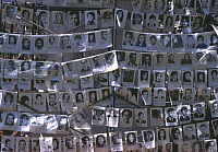 0127499 © Granger - Historical Picture ArchiveJUNTA VICTIMS.   Photographs hanging in the Plaza de Mayo, Buenos Aires, of those who disappeared under the rule of the Argentinian military junta from 1976 to 1983. Photograph, 2004. Full credit: Azavedo - ullstein bild / Granger, NYC -- All Rights Reserved.