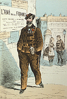 0127711 © Granger - Historical Picture ArchiveGERMAN-FRENCH WAR.   German - French War Soldier of the Foreign Legion - contemporary French illustration - 1871
