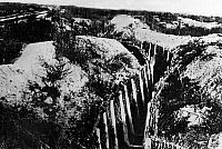 0128028 © Granger - Historical Picture ArchiveWORLD WAR I.   Theatre of war, western front 1916, Verdun: Abandoned trench at Fort Douaumont c1916-17.