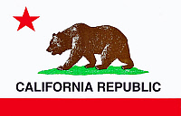 0129440 © Granger - Historical Picture ArchiveCALIFORNIA: STATE FLAG.   Flag of the state of California. Full credit: ullsteinbild - Keith / Granger, NYC -- All right