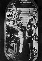 0129895 © Granger - Historical Picture ArchiveJAPANESE SUBMARINE, 1943.   The engine room of a Japanese submarine on a mission in the South Pacific during World War II, 1943.