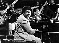 0129900 © Granger - Historical Picture ArchiveFATS DOMINO (1928- ).   Antoine Dominique Domino. American musician. Domino performing at a concert in 1973. Full credit: Binder - ullstein bild / Granger, NYC -- All rights reserv