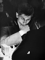 0131799 © Granger - Historical Picture ArchiveBOBBY FISCHER (1943-2008).   American chess player, playing in a tournament in Stockholm, Sweden, 1962. Full credit: von der Becke - ullstein bild / Granger, NYC -- All rights rese