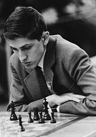 0131802 © Granger - Historical Picture ArchiveBOBBY FISCHER (1943-2008).   American chess player, playing a game, c1962. Full credit: Herbert Kronfeld - ullstein bild / Granger, NYC -- All rights reserved.