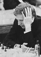 0131805 © Granger - Historical Picture ArchiveBOBBY FISCHER (1943-2008).   American chess player. Photographed during a game against Soviet champion Boris Spassky at the 19th Chess Olympiad in Siegen, West Germany, 20 September 1970. Full credit: Schirner X - ullstein bild / Granger, NYC -- All Rights Reserved.