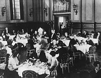 0131815 © Granger - Historical Picture ArchiveNEW YORK: WALDORF-ASTORIA.   Scene in the restaurant of the Waldorf-Astoria Hotel in New York City. Photographed in 1929.