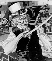 0132140 © Granger - Historical Picture ArchiveCUBA HISTORY.   Cuba Spanish-American War 'Uncle Sam is ready' - a satirical cartoon from 'Leslie's Weekly' about the Spanish-American War 1898 - - 20.03.1898