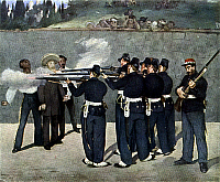 0132268 © Granger - Historical Picture ArchiveMEXICAN HISTORY.   'The Execution of Emperor Maximilian,' by Edouard Manet, 1867. Contemporary painting of the execution of Emperor Maximilian of Mexico (born Archduke Ferdinand Maximilian Joseph of Austria) in Queretaro. Painting, 1867.