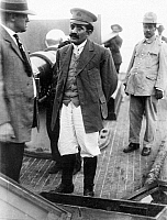 0132281 © Granger - Historical Picture ArchiveGENERAL PABLO GONZALES.   (1879-1950). General Pablo Gonzáles Garza, leader of the Federales (government troops) under Carranza, aboard a warship. Photograph, 1914.
