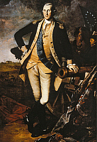 0132347 © Granger - Historical Picture ArchiveGEORGE WASHINGTON.   (1732-1799). Washington at Princeton. Contemporary painting, 18th century.