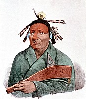 0132366 © Granger - Historical Picture ArchiveWAATOPENOT.   Chief of the Chippewa. Lithograph after an anonymous painting, c1835.