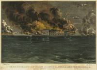 0132451 © Granger - Historical Picture ArchiveCIVIL WAR: FORT SUMTER, 1861. Bombardment of Fort Sumter in Charleston Harbor on April 12 and 13, 1861, during the American Civil War. Lithograph published by Currier & Ives, c1861.