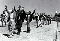 0133059 © Granger - Historical Picture ArchiveARAB-ISRAELI WAR, 1948.   Palestinian Arabs of Ramla surrender to the Israeli army. Photograph, 1948.