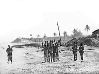 0133123 © Granger - Historical Picture ArchiveYOM KIPPUR WAR, 1973.   Soldiers of the Egyptian Army at the east bank of the Suez Canal surrender to the Israelis. Photograph, October 1973.