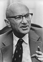 0162826 © Granger - Historical Picture ArchiveMILTON FRIEDMAN (1912-2006).   American economist and Nobel Prize winner in 1976. Photograph, 1974. Full credit: Financial Times - ullstein bild / Granger, NYC -- All rights reserv