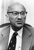 0162827 © Granger - Historical Picture ArchiveMILTON FRIEDMAN (1912-2006).   American economist and Nobel Prize winner in 1976. Photograph, 1974. Full credit: Financial Times - ullstein bild / Granger, NYC -- All rights reserv