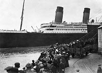 0163095 © Granger - Historical Picture ArchiveTITANIC: SOUTHAMPTON, 1912.   The departure of the Titanic on her maiden voyage from Southampton, 10 April 1912.