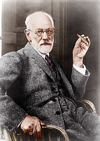 0163397 © Granger - Historical Picture ArchiveSIGMUND FREUD (1856-1939).   Austrian neurologist and founder of psychoanalysis. Photograph, 1926, colored at a later date.