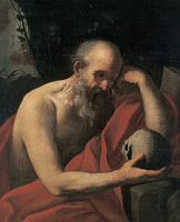 0165482 © Granger - Historical Picture ArchiveSIRANI: SAINT JEROME.   Church scholar and translator. Oil on canvas by Elisabetta Sirani, mid 17th century. Full credit: Imagno - ullstein bild / Granger, NYC -- All rights reserv