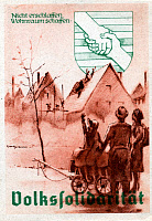 0165615 © Granger - Historical Picture ArchivePEOPLE'S SOLIDARITY, 1948.   Postcard of the People's Solidarity (Volkssolidarität) charity, illustrating the effort to rebuild housing, 1948. Full credit: Mehrl - ullstein bild / Granger, NYC -- All rights reserved. EDITORIAL USE ONLY.