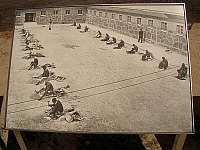0166945 © Granger - Historical Picture ArchiveROBBEN ISLAND.   Former prisoner island Robben Island, Western Cape, South Africa. Picture shows prisoners engaged in forced labour. Photograph, 15.10.2004.