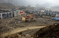 0167235 © Granger - Historical Picture ArchiveCHINA: EARTHQUAKE, 2008.   City in Beichuan County, Sichuan, China, destroyed by the earthquake on 12 May 2008. Photograph 16 January 2009. Full credit: sinopictures/ViewChin - ullstein bild / Granger, NYC -- All rights reserved.