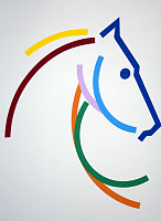 0169005 © Granger - Historical Picture ArchiveWORLD EQUESTRIAN GAMES.   The logo of the 2006 FEI World Equestrian Games held in Aachen, Germany. Full credit: Sven Simon - ullstein bild / Granger, NYC -- All rights reserved.