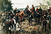 0169054 © Granger - Historical Picture ArchiveBATTLE OF KOENIGGRATZ.   Meeting of William I of Prussia and Crown Prince Frederick William (later Frederick III), 1866.