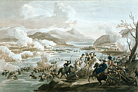 0169208 © Granger - Historical Picture ArchiveCAMPAIGN IN ITALY.   Battle of Tagliamento: Napoleon Bonaparte crossing the river. Etching by Martinet, 16.03.1797.
