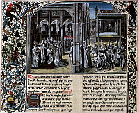 0169310 © Granger - Historical Picture ArchiveHENRY IV (1367-1413).   King of England (1399-1413). Coronation of Henry IV in 1399. Miniature from the Jean Froissart's 'Chronicles' from the 15th century.