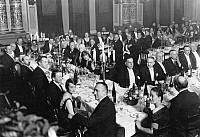 0169370 © Granger - Historical Picture ArchiveGDANSK: LEAGUE OF NATIONS.   Banquet on the occasion of the founding of the Gdansk League for the League of Nations, 13 February 1928.
