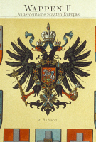 0171257 © Granger - Historical Picture ArchiveRUSSIAN EMPIRE.   Coat of arms of the Russian Empire, c1900. Full credit: ullstein - Archiv Gerstenberg / Granger, NYC -- All Rights Reserved.
