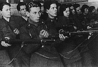 0171478 © Granger - Historical Picture ArchiveSOVIET COMMUNIST YOUTH.   Komsomols (Communist Union of Youth) undergoing an arms training, 1930s. Full credit: ullstein - Archiv Gerstenberg / Granger, NYC -- All rights reserved.