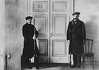 0171548 © Granger - Historical Picture ArchiveCOMMUNIST WORKERS' GUARD.   Armed Workers' Guard in front of Lenin's office in the Smolny Institute. At the beginning of the October Revolution, 1917. Full credit: ullstein - Archiv Gerstenberg / Granger, NYC -- All rights reserved.