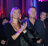 0178295 © Granger - Historical Picture ArchiveFRANZISKA VAN ALMSICK.   Franziska van Almsick - entrepreneur, Germany - with companion Juergen B. Harder - celebrating an event - 12.07.2007. Full credit: ullstein bild / Granger, NYC -- All Rights Reserved.