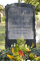 0182287 © Granger - Historical Picture ArchiveTHEODOR FONTANE.   Fontane, Theodor - Author, Germany - combined grave with wife Emilie on the cemetery in the â¬ Ü Liesenstrasse⬠! in Berlin - 21.11.2007