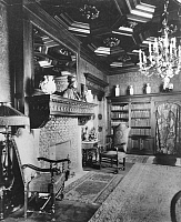 0186807 © Granger - Historical Picture ArchiveVILLA OF CARL FUERSTENBERG.   Germany Berlin: villa of the financier Carl Fuerstenberg room with fire place - 1913 taken by Waldemar Titzenthaler, ullstein bild ID 00146449.
