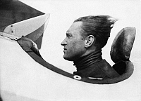 0189549 © Granger - Historical Picture ArchiveAVIATOR GERHARD FIESELER.   German Gerhard Fieseler, aviator, stunt pilot and airplane designer, in his plane, 1932.