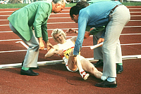0191337 © Granger - Historical Picture ArchiveCHRISTEL FRESE.   Christel Frese - Athlete, Running, Germany - injured at the Summer Olympic Games in Munich - 26.08.1972, ullstein bild ID 00959329.