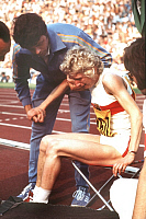 0191338 © Granger - Historical Picture ArchiveCHRISTEL FRESE.   Christel Frese - Athlete, Running, Germany - injured at the Summer Olympic Games in Munich - 26.08.1972, ullstein bild ID 00959328.