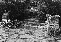 0193117 © Granger - Historical Picture ArchiveEDUARD FUCHS.   Fuchs, Eduard - Cultural historian, Historian, Writer, Art collector, Germany *21.01.1870-26.01.1940+ - staircases in the garden of his habitation in Berlin-Zehlendorf - Photographer: Emil Leitner - Published by: 'Die Dame' 15/1928 Vintage property of ullstein bild 01039138.