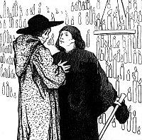 0194582 © Granger - Historical Picture ArchiveFAIRY TALES OF BROTHERS GRIMM.   Fairy tales of the Brothers Grimm Godfather Death - illustration by Otto Ubbelohde (1867-1922) - 1909, ullstein bild ID 00725108.