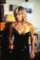0194616 © Granger - Historical Picture ArchiveFARRAH FAWCETT.   Fawcett, Farrah - Actress, USA - in the movie Extremities, directed by Robert M. Young - July 1986 No-commercial-use! .