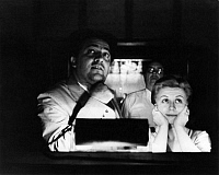 0194669 © Granger - Historical Picture ArchiveFEDERICO FELLINI.   Fellini, Federico *20.01.1920-31.10.1993+ - director, filmmaker, Italy - with his wife Giulietta Masina during a presentation of the movie La Strada - 1954 - For-editorial-use-only! 01102004.